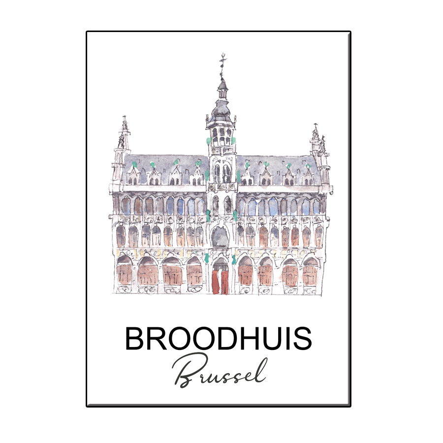 A6 CITY ICON BROODHUIS BRUSSEL CARD