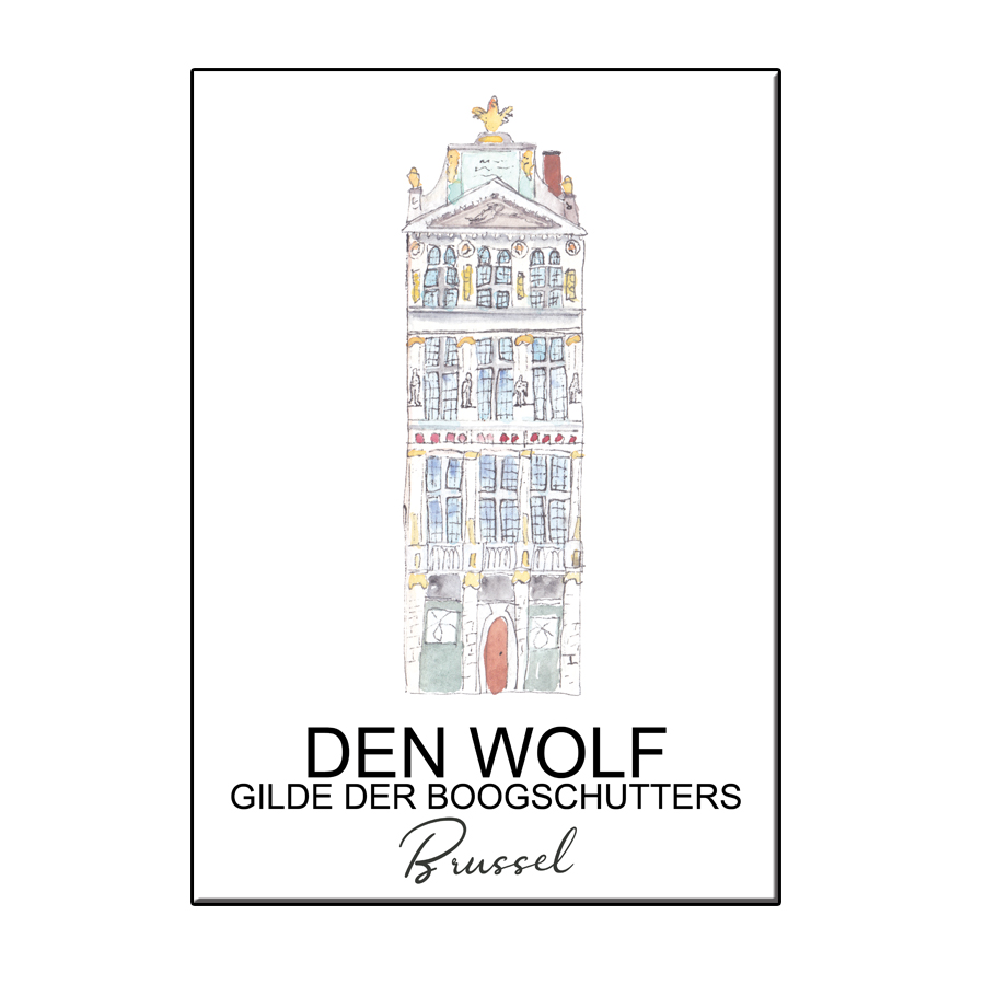 A6 CITY ICON DEN WOLF BRUSSEL CARD