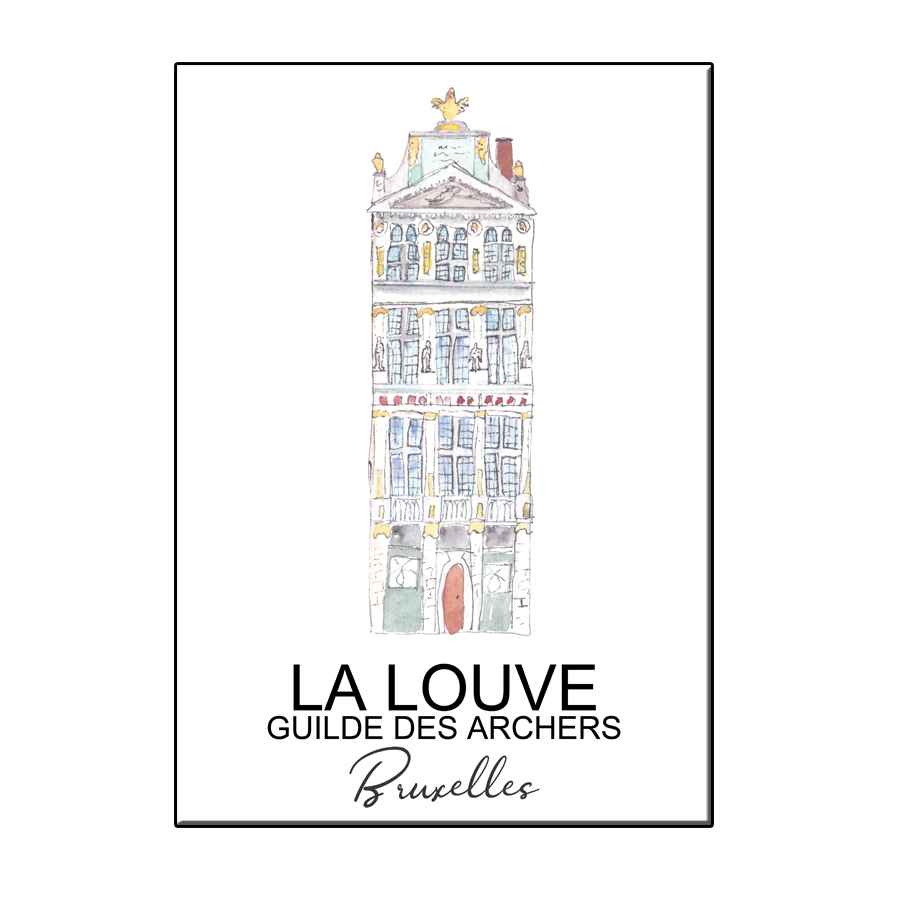 A6 CITY ICON LA LOUVE BRUXELLES CARD