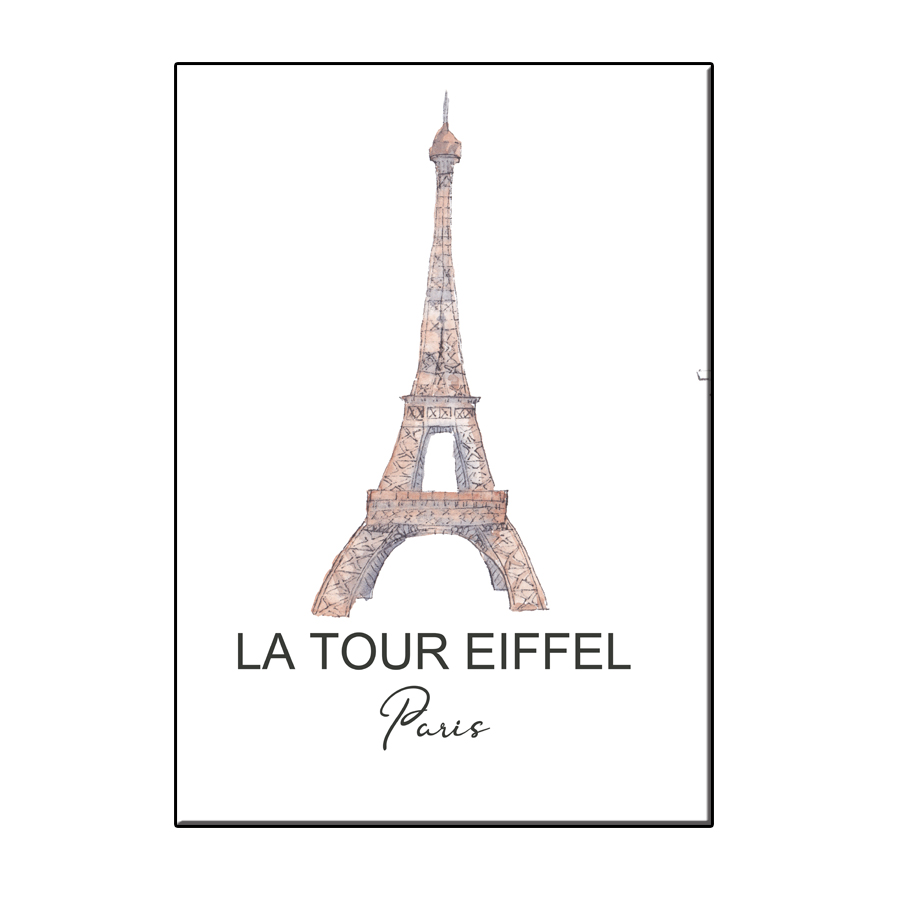 A6 CITY ICON TOUR EIFFEL PARIS CARD