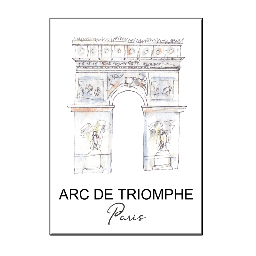 A6 CITY ICON ARC DE TRIOMPHE PARIS CARD