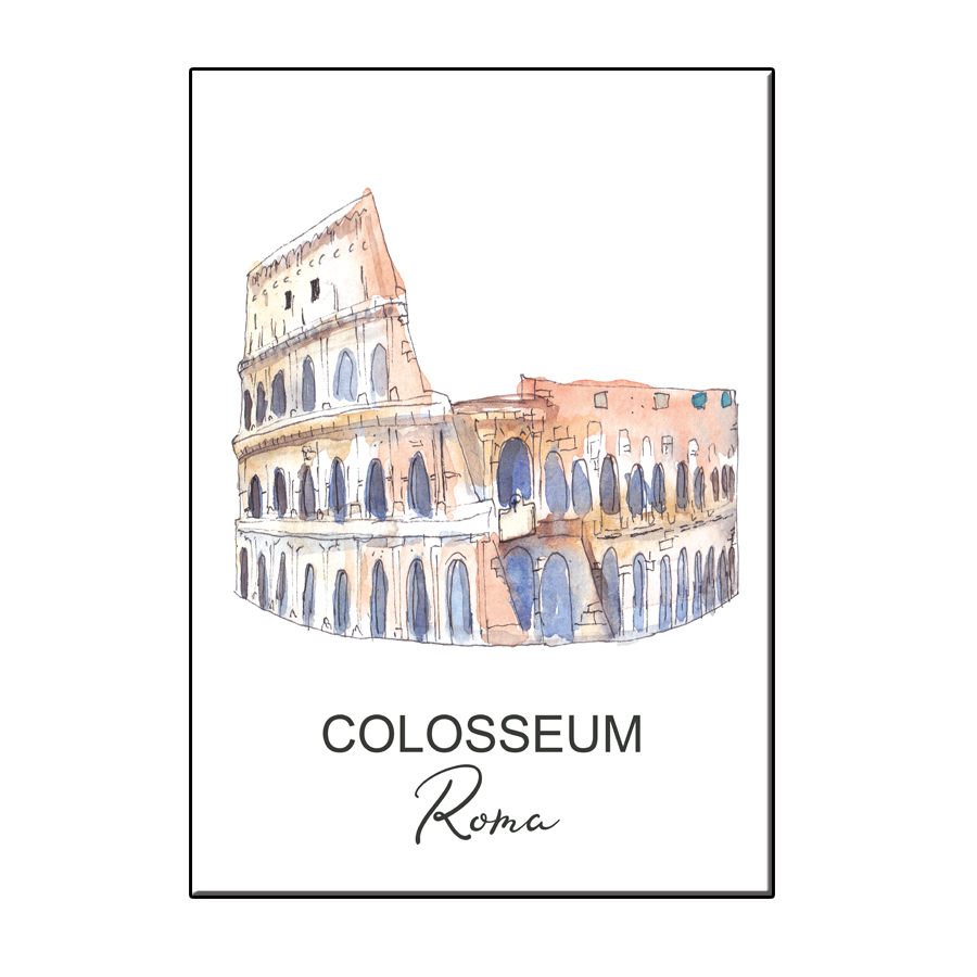 A6 CITY ICON COLOSSEUM ROME CARD
