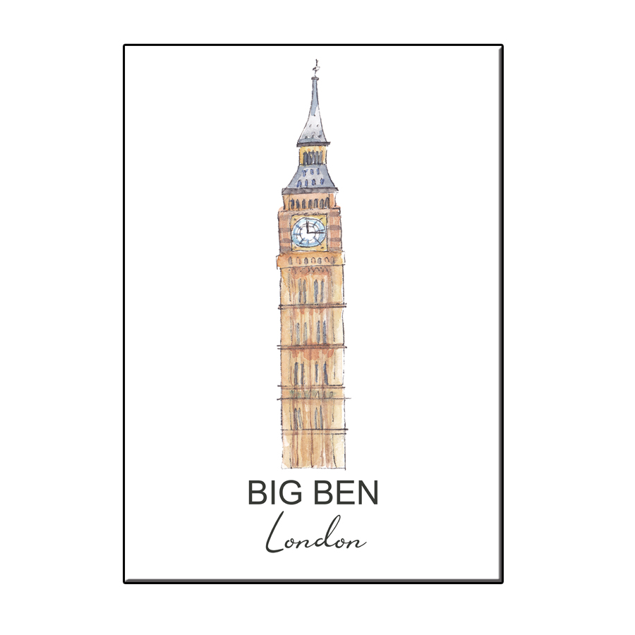 A6 CITY ICON BIG BEN LONDON CARD