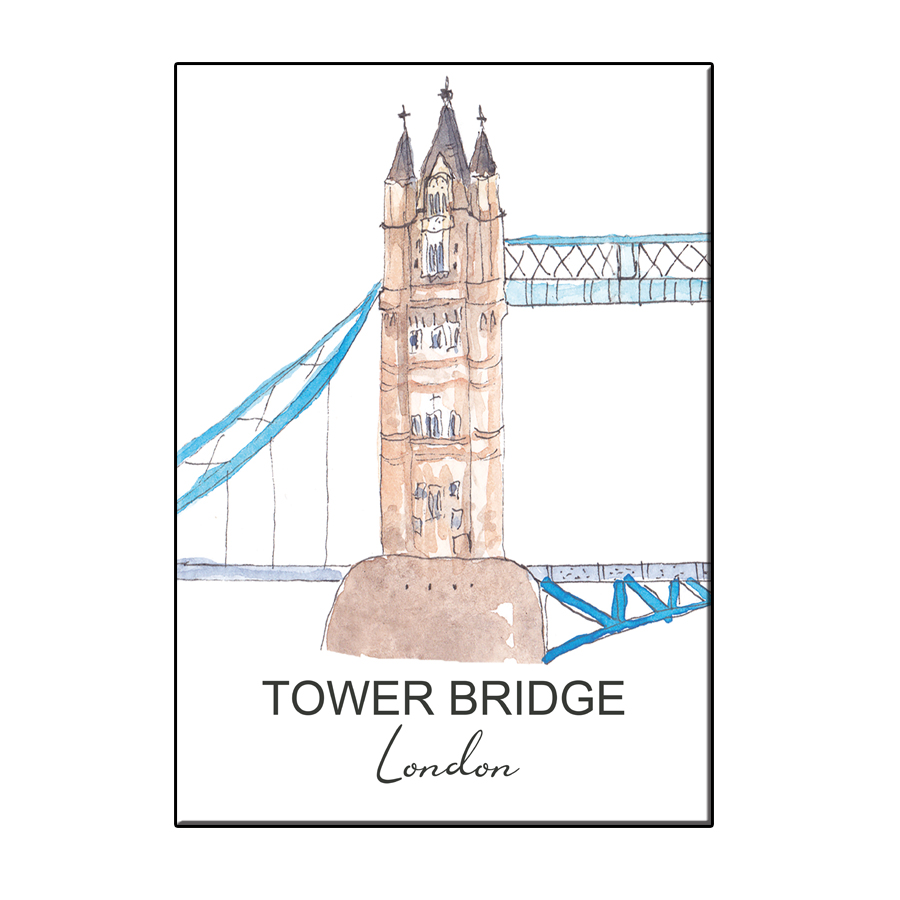 A6 CITY ICON TOWER BRIDGE LONDON CARD