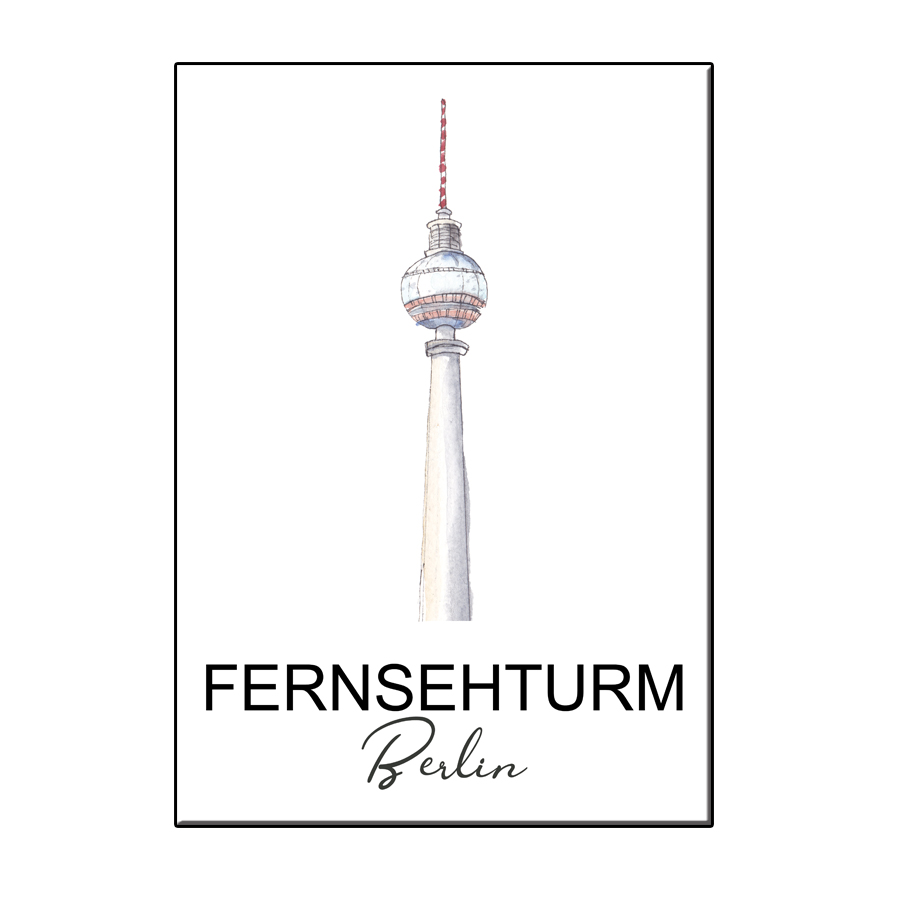 A6 CITY ICON FERNSEHTURM BERLIN CARD