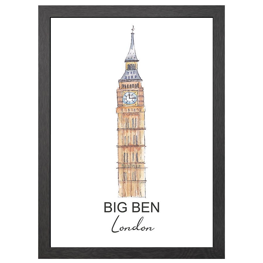 A2 FRAME BIG BEN LONDON