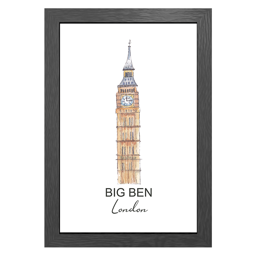 A3 FRAME BIG BEN LONDON