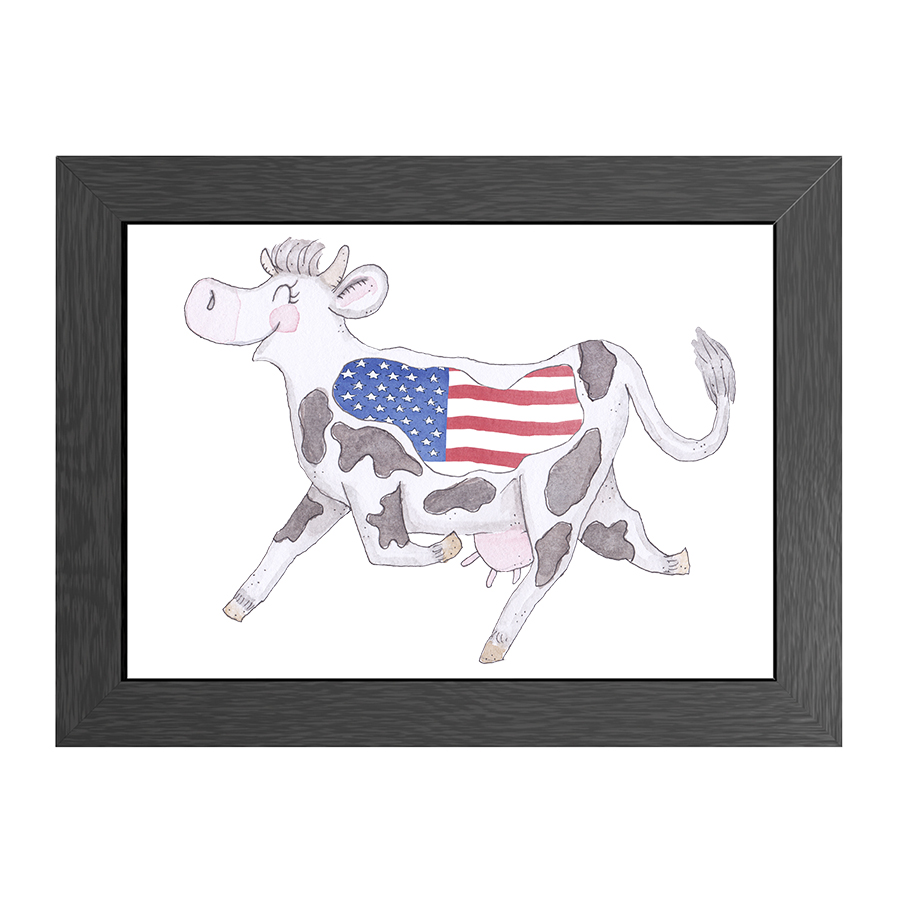 A4 FRAME CRAZY COW USA