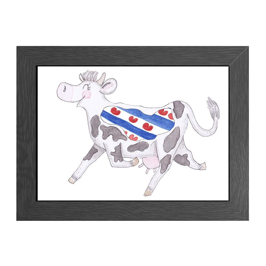 A4 FRAME CRAZY COW FRIESLAND