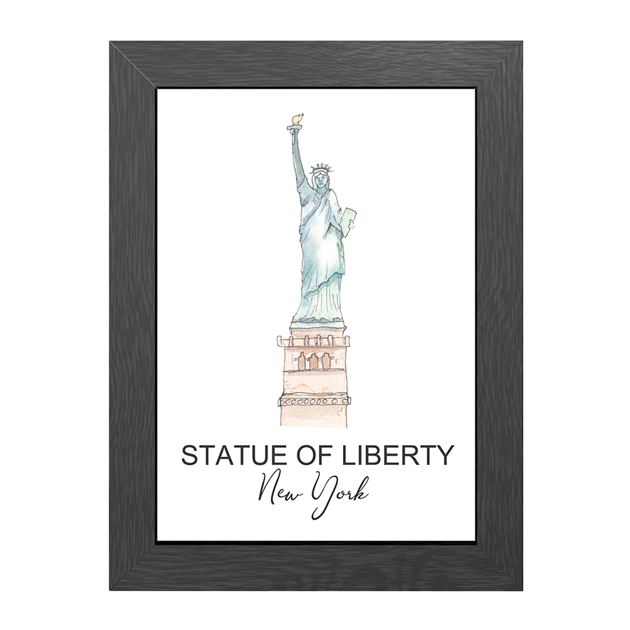 A4 FRAME STATUE OF LIBERTY NY