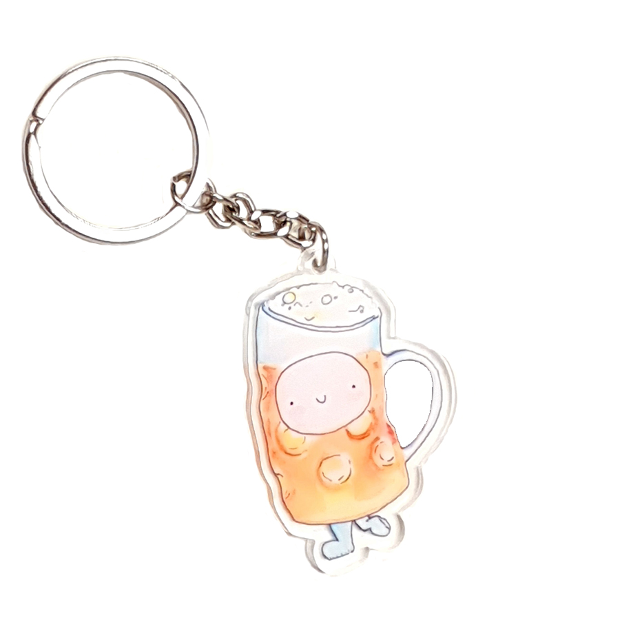 HAPPY BEER ACRYLIC KEYRING