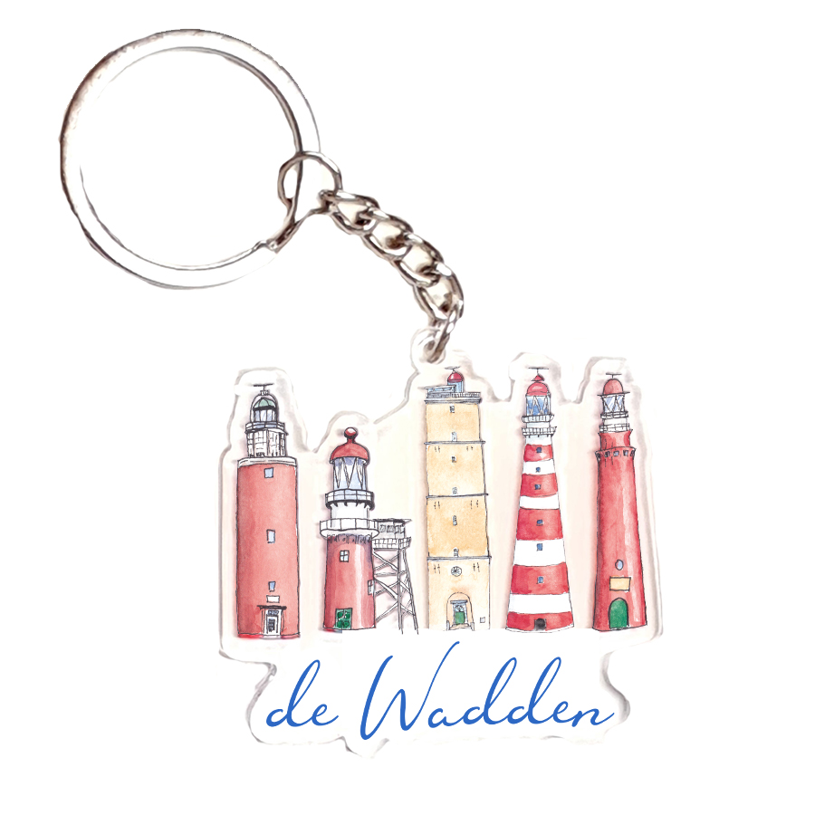 WADDEN LIGHTHOUSE ACRYLIC KEYRING