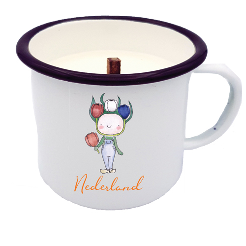 HAPPY TULIP BOY NL CANDLE IN A CUP