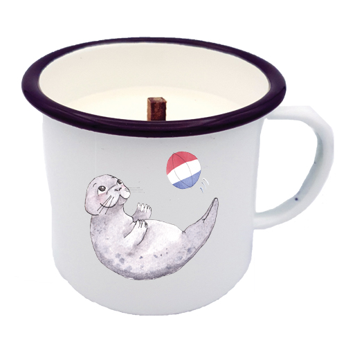 LUCKY SEAL NL CANDLE IN A CUP