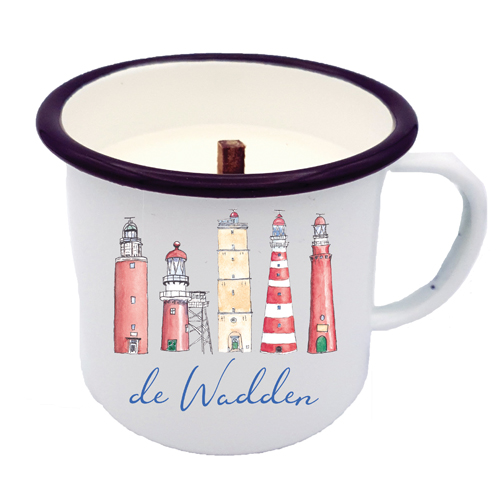 WADDEN LIGHTHOUSES CANDLE IN A CUP