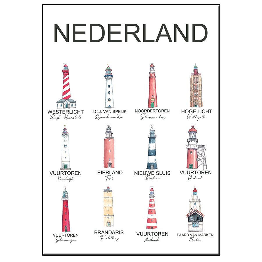 A5 LIGHTHOUSES THE NETHERLANDS CARD