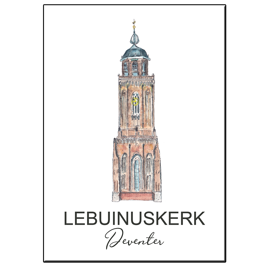 A5 TOWER LEBUINUSKERK DEVENTER CARD