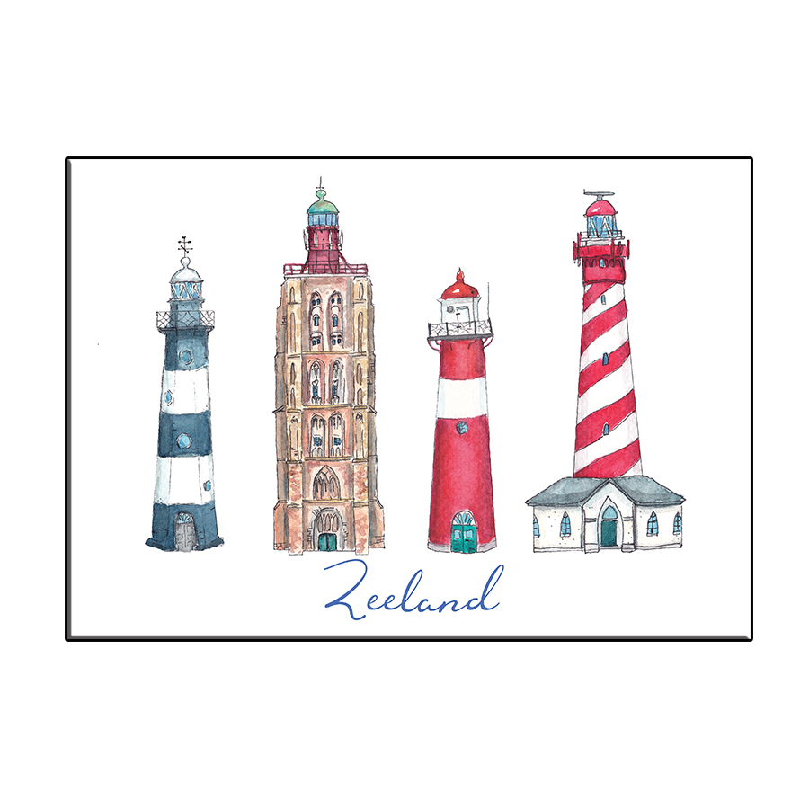 A6 ICONIC LIGHTHOUSES ZEELAND CARD