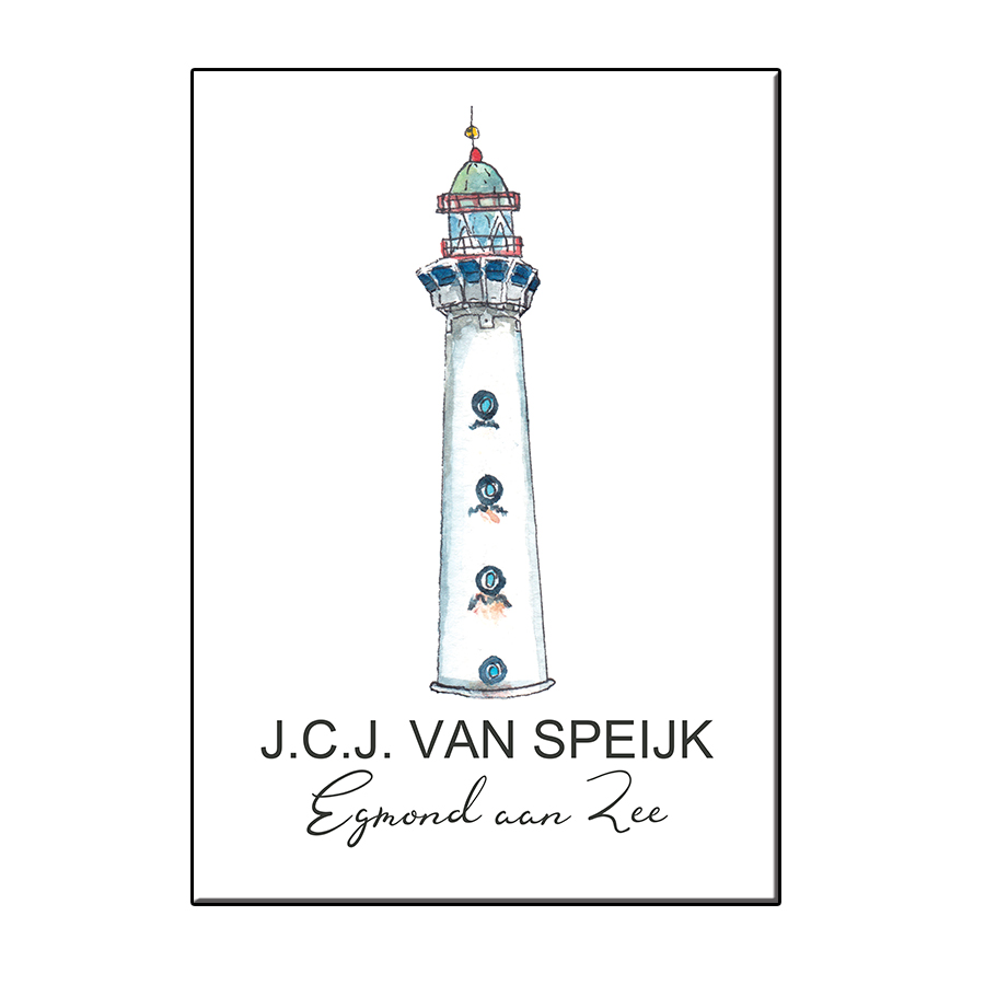 JCJ VAN SPEIJK A6 LIGHTHOUSE EGMOND AAN ZEE CARD