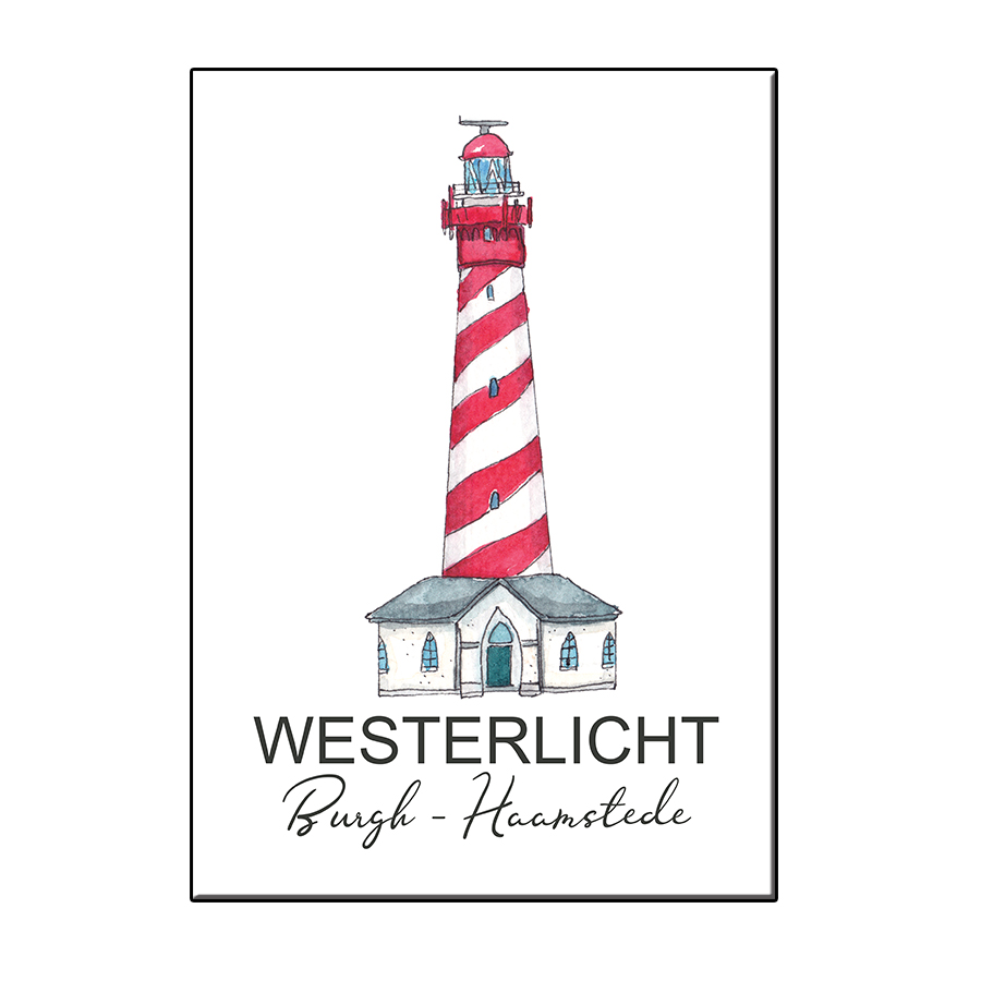 A6 LIGHTHOUSE WESTERLICHT BURGH-HAAMSTEDE CARD