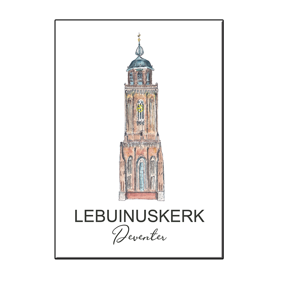 A6 TOWER LEBUINUSKERK DEVENTER CARD