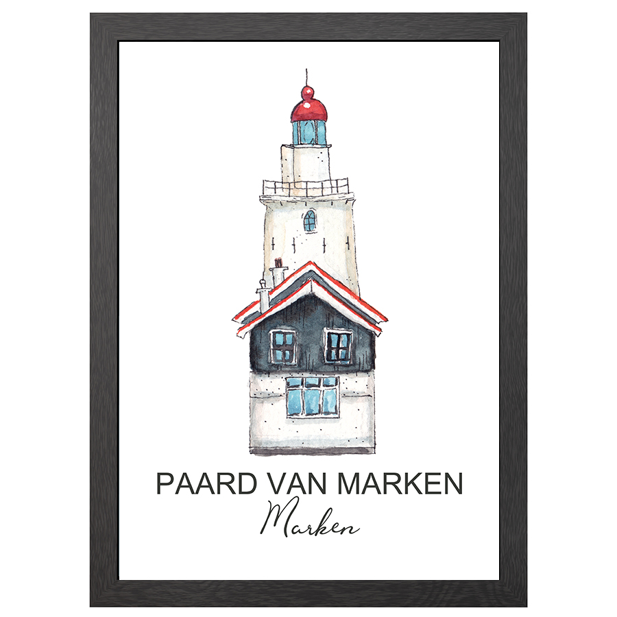 Product groups A2 POSTER LIGHTHOUSE PAARD VAN MARKEN