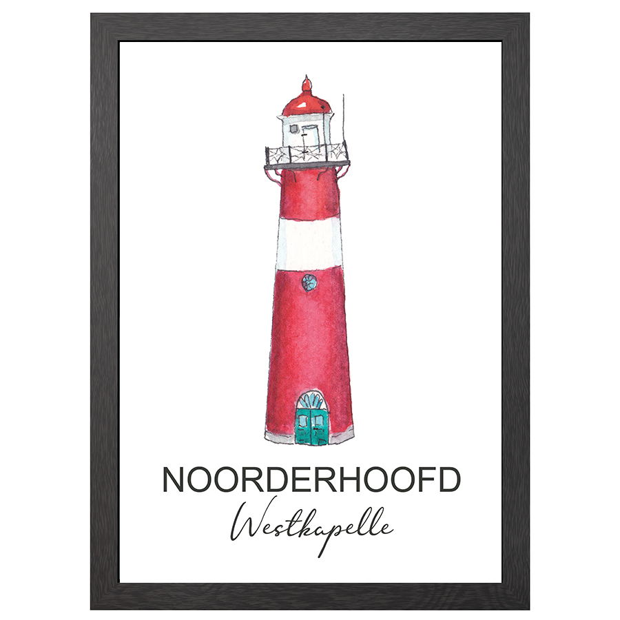 A2 POSTER LIGHTHOUSE NOORDERHOOFD WESTKAPELLE