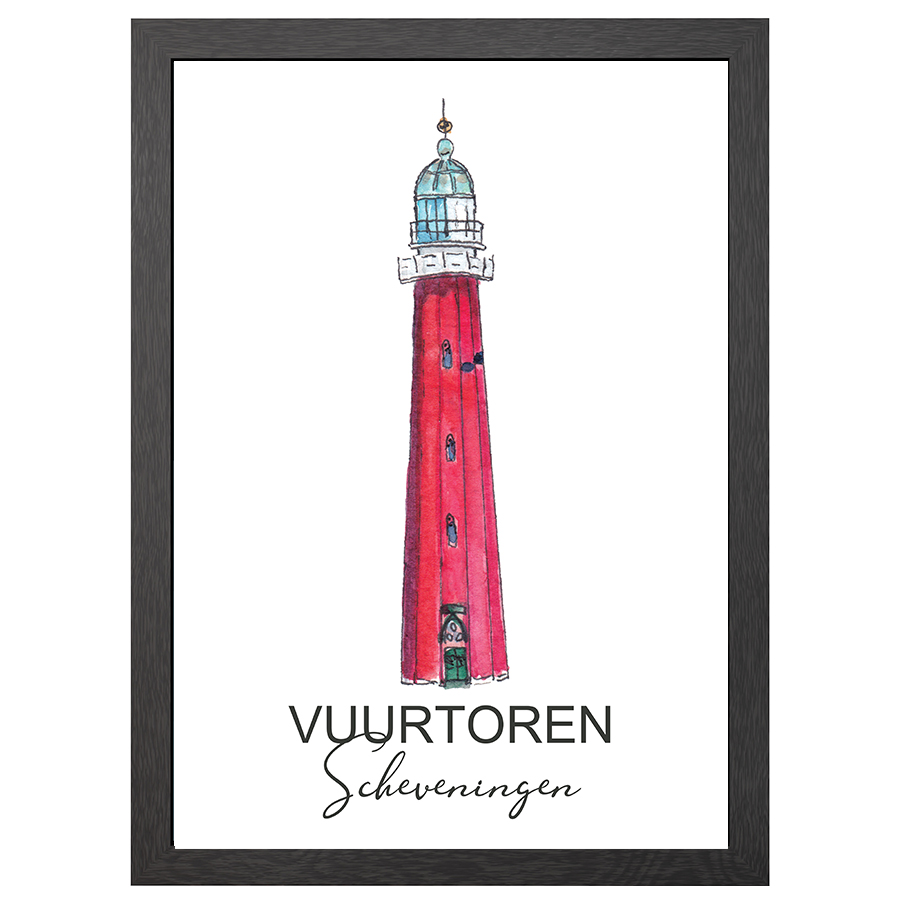 A2 POSTER LIGHTHOUSE SCHEVENINGEN