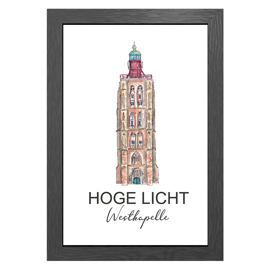 A3 POSTER LIGHTHOUSE HOGE LICHT WESTKAPELLE
