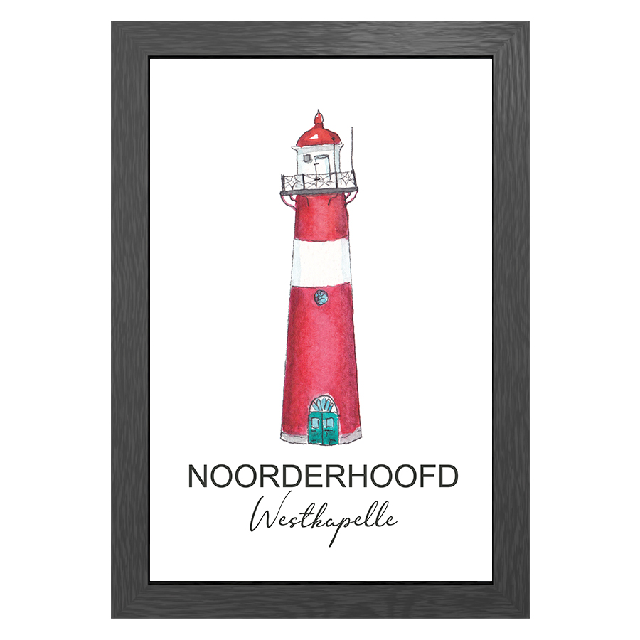 A3 POSTER LIGHTHOUSE NOORDERHOOFD WESTKAPELLE
