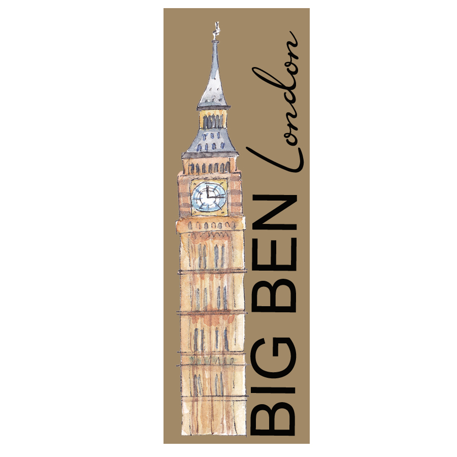 BIG BEN LONDON KRAFT BOOKMARK