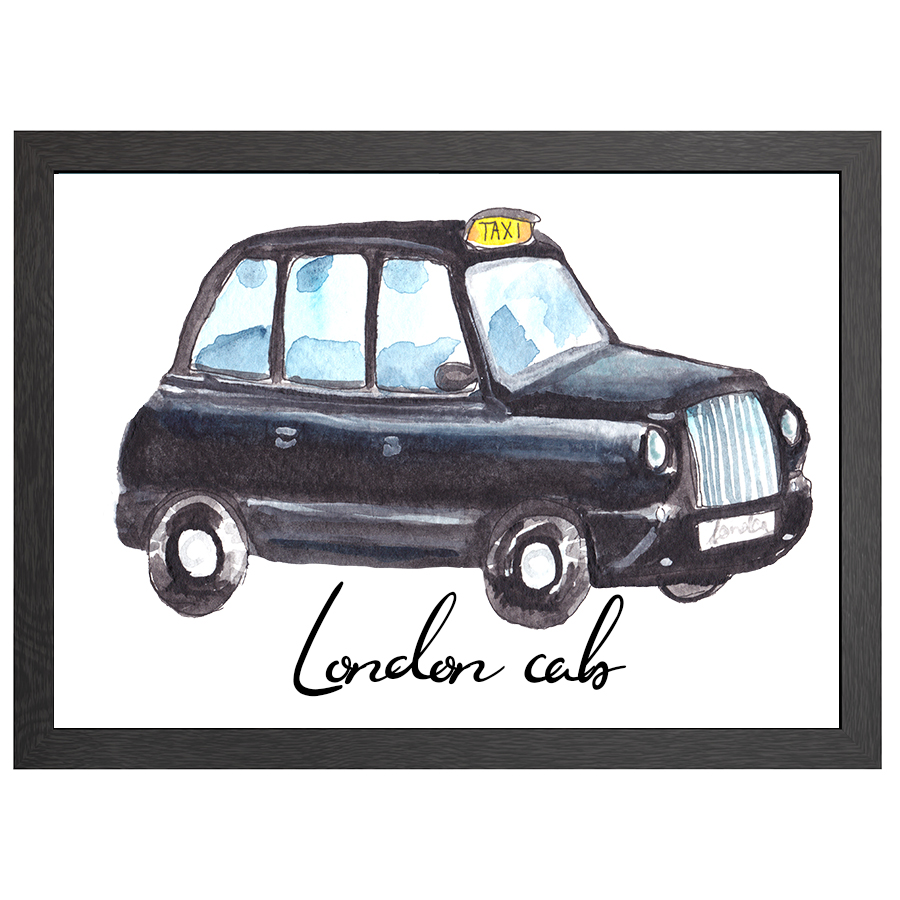 A2 POSTER LONDON CAB