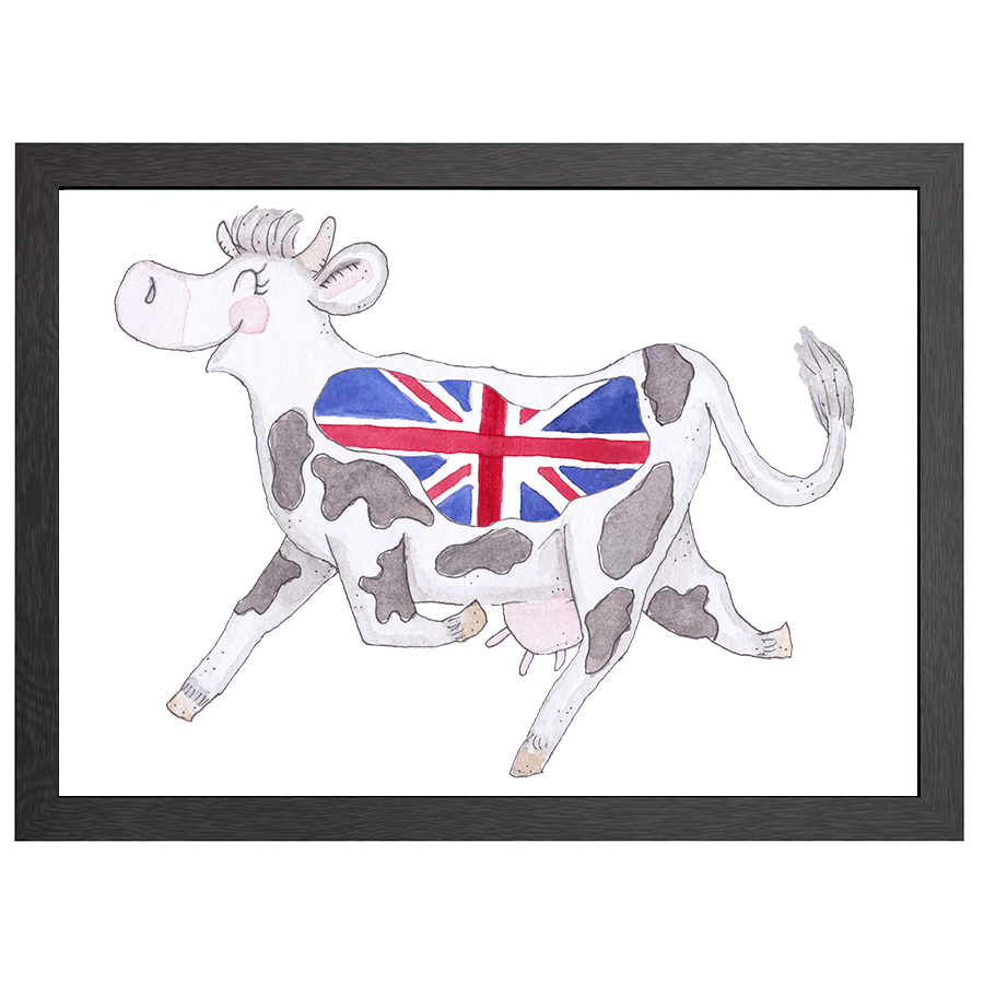 A2 POSTER COW UK