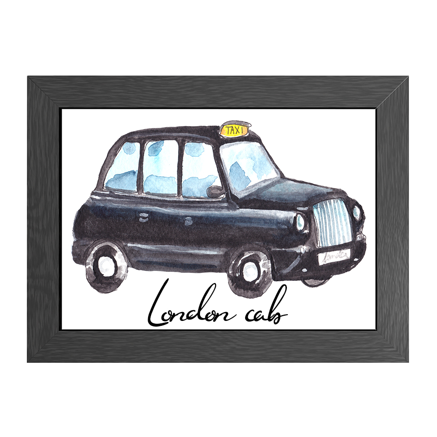 A4 POSTER LONDON CAB