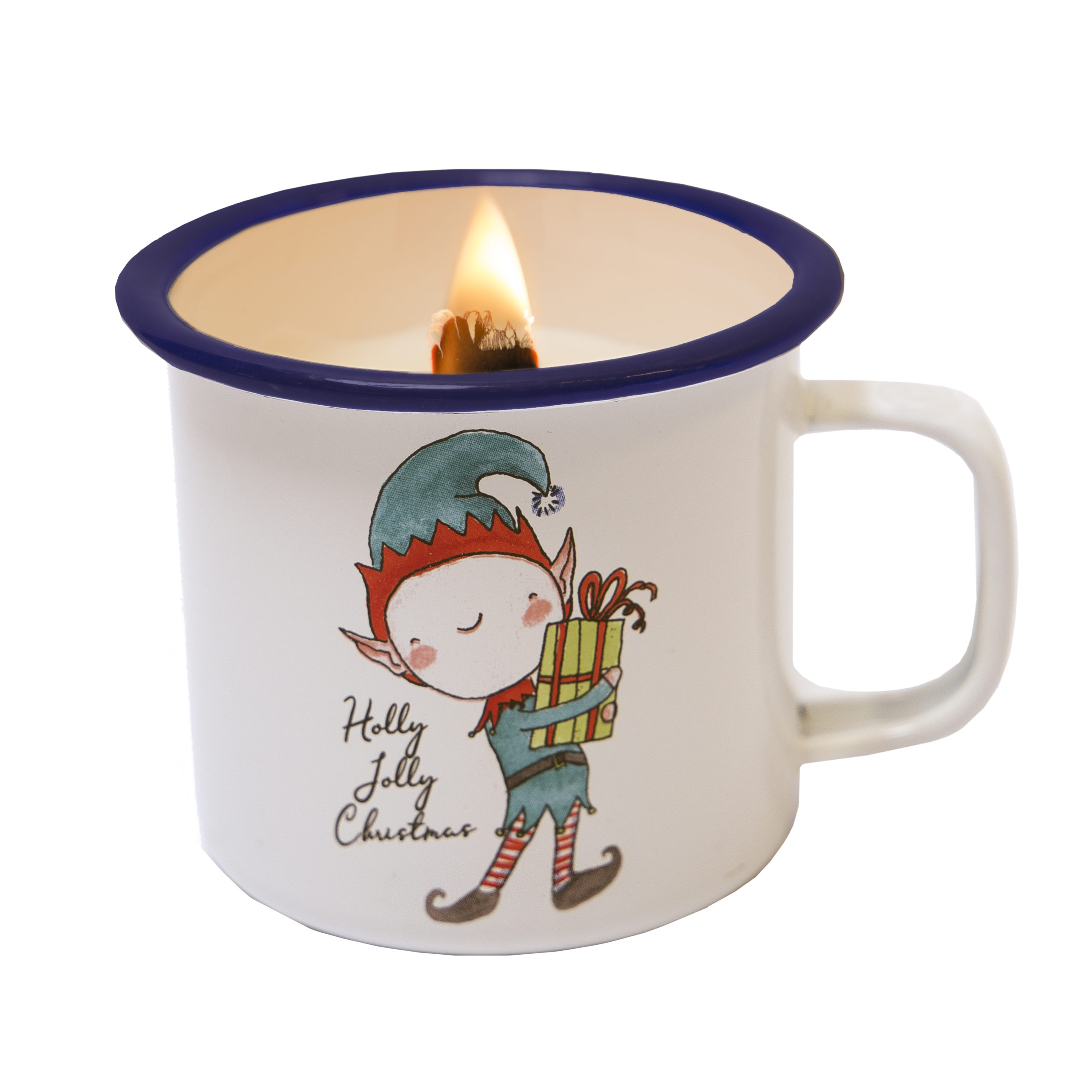 candle in a cup christmas elf joyin