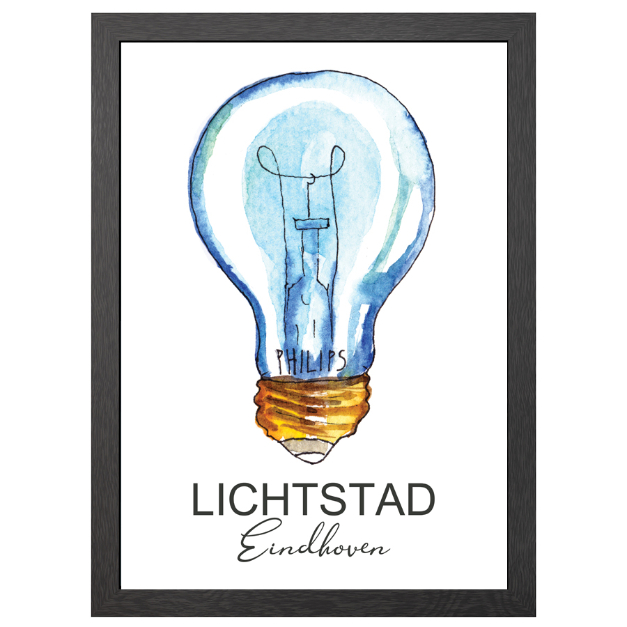 A2 POSTER LICHTSTAD EINDHOVEN IN FRAME