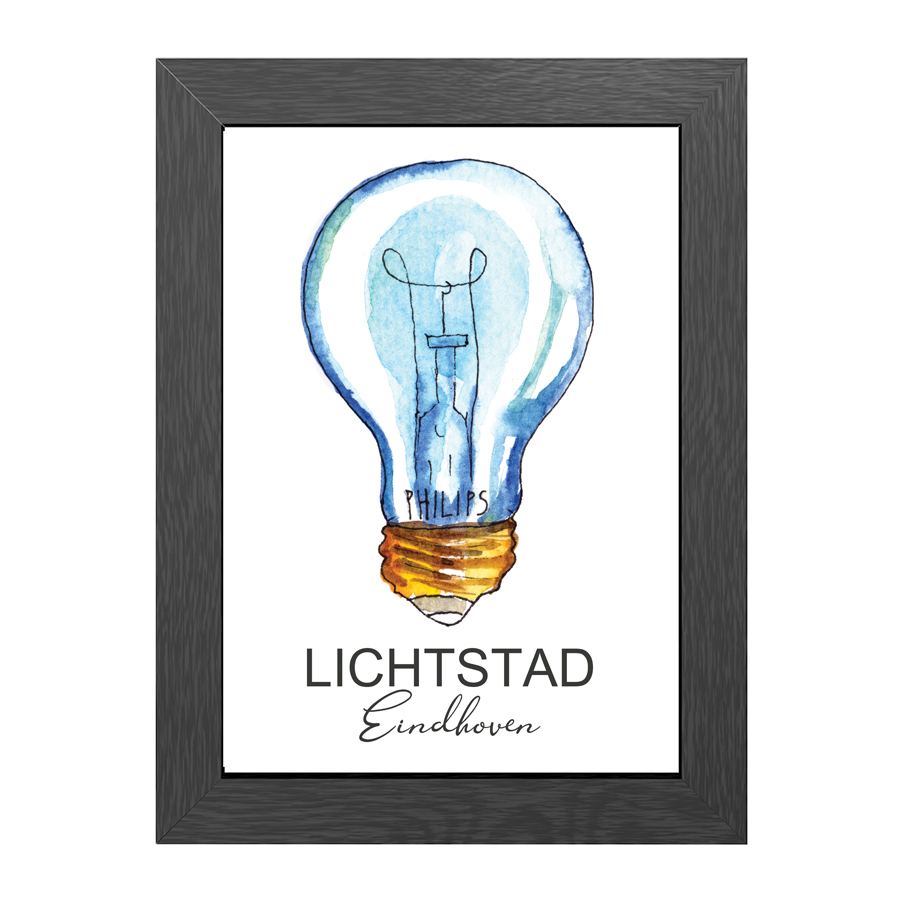 A4 POSTER LICHTSTAD EINDHOVEN IN FRAME
