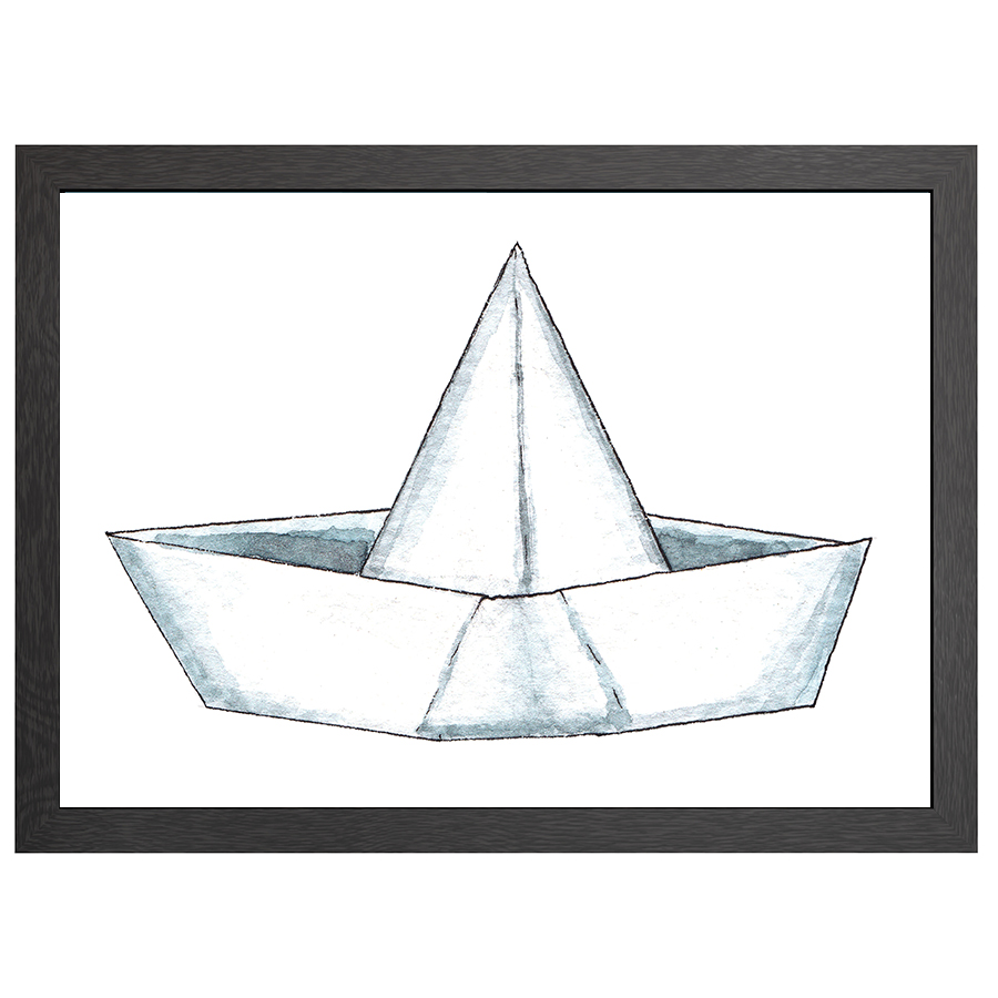 A2 POSTER PAPER BOAT IN FRAME