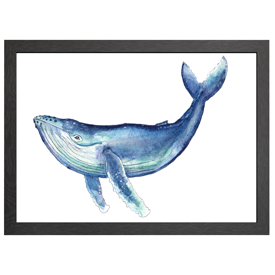 A2 POSTER WHALE IN FRAME