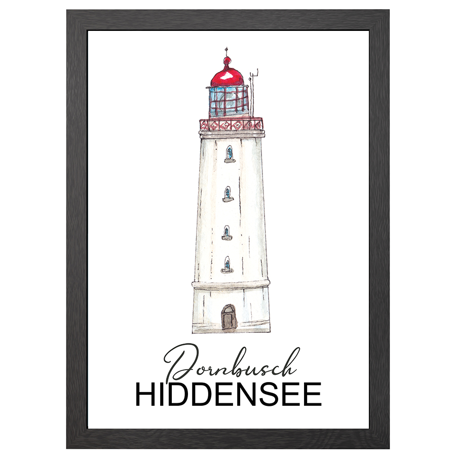 A2 POSTER DORNBOSCH LIGHTHOUSE IN FRAME