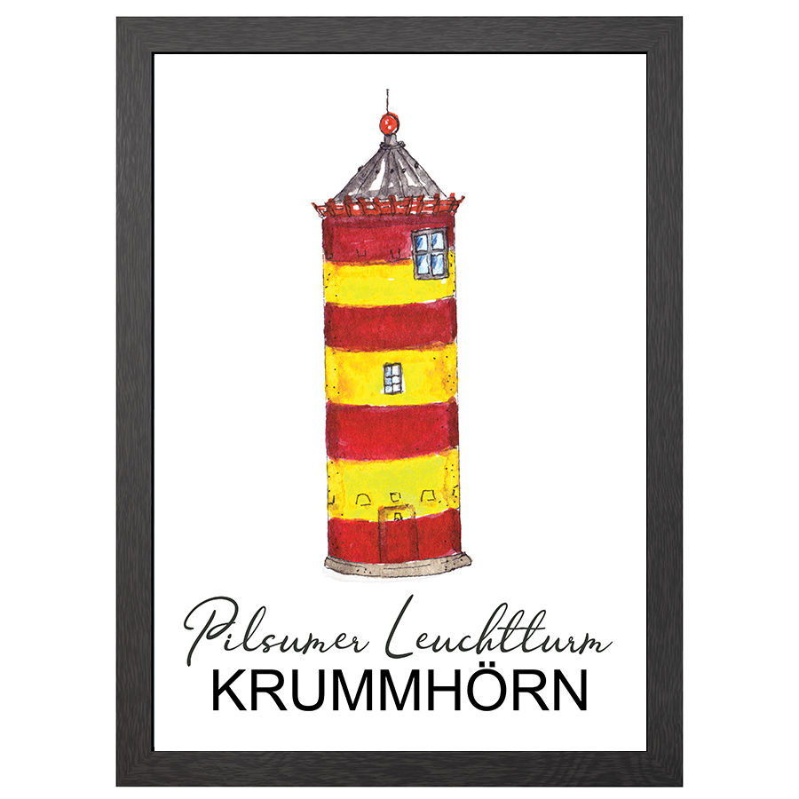 A2 POSTER PILSUM LIGHTHOUSE IN FRAME