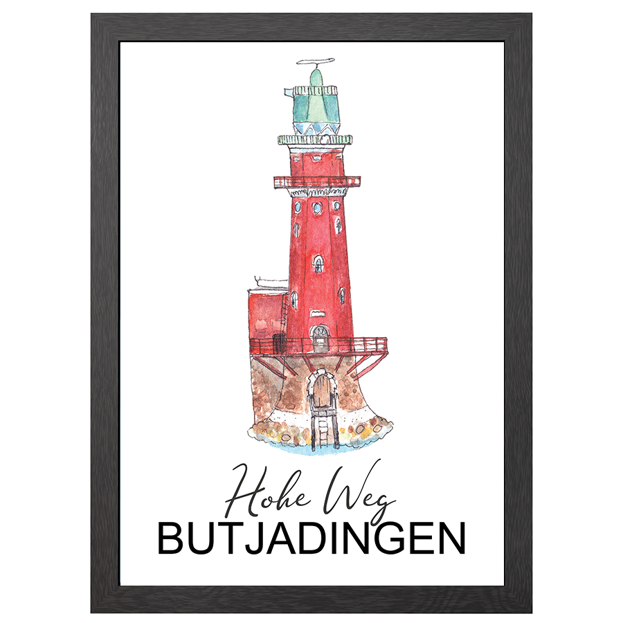 A2 POSTER HOHE WEG LIGHTHOUSE IN FRAME