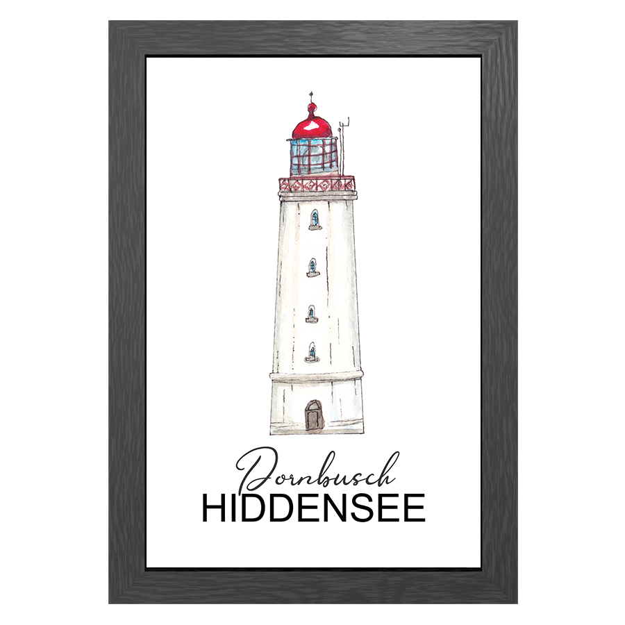 A3 POSTER TIMMENDORF LIGHTHOUSE IN FRAME