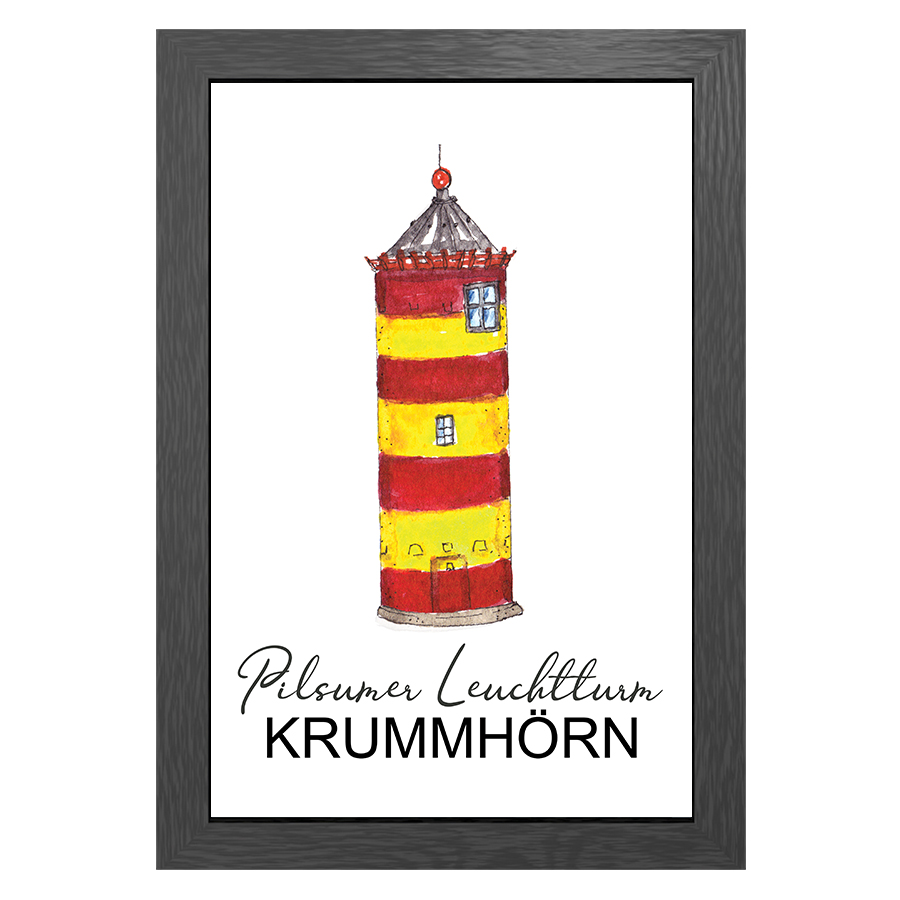 A3 POSTER PILSUM LIGHTHOUSE IN FRAME