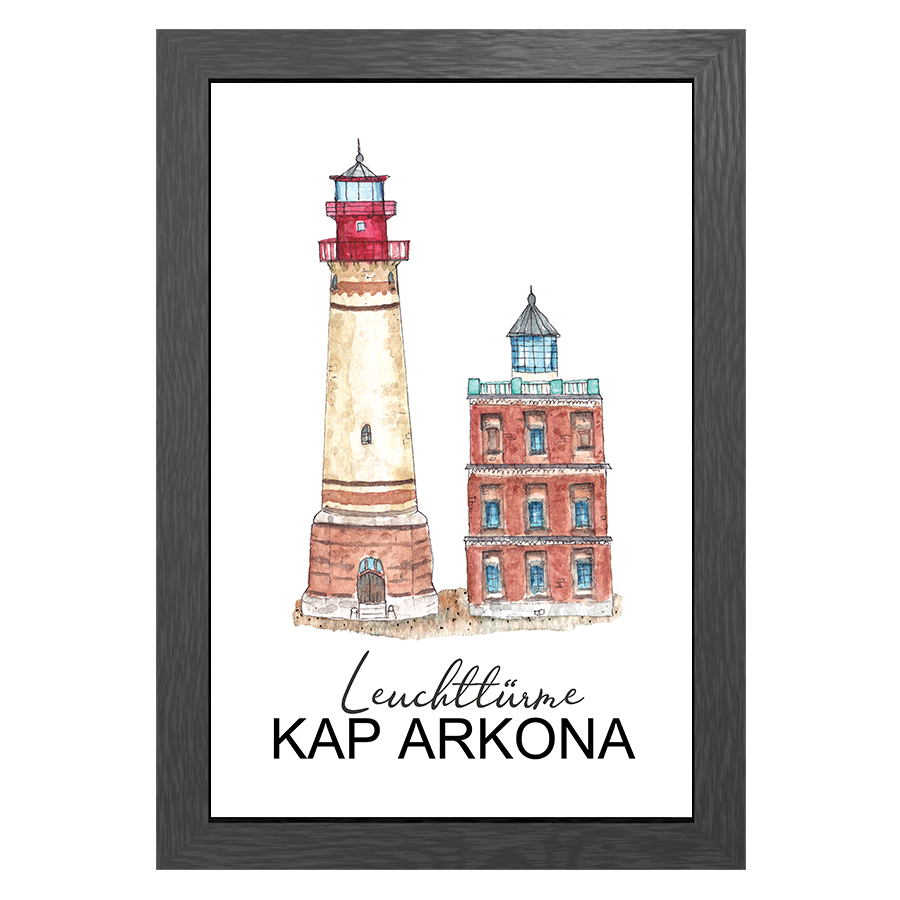 A3 POSTER KAP ARKONA LIGHTHOUSES IN FRAME