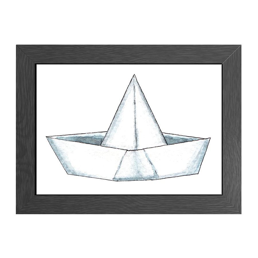 A4 POSTER PAPER BOAT IN FRAME