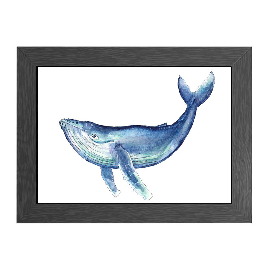 A4 POSTER WHALE IN FRAME